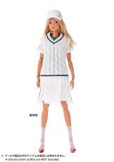 Photo2: Dress: Tennis Dress Set for momoko / ラインワンピースセット (2)