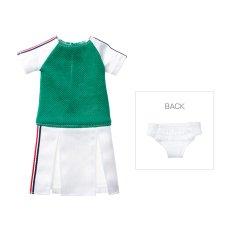 Photo1: Dress: Tennis Dress Set for momoko / ラインワンピースセット (1)