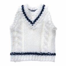 Photo1: Dress: Tilden Vest, S size, White, for ruruko/ チルデンベストS ホワイト (1)