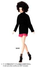 Photo2: Dress: Knit Tunic for momoko, Black. /ニットチュニック ブラック (2)