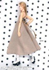Photo5: Dress: momoko Simple Dress Set, Beige / momokoシンプルワンピースセット ベージュ (5)