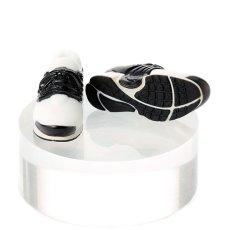 Photo1: Running Shoes, White×Black / ハイテクスニーカー ホワイト×ブラック (1)
