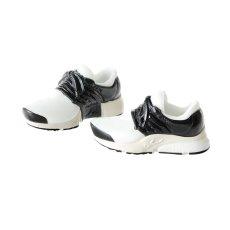 Photo2: Running Shoes, White×Black / ハイテクスニーカー ホワイト×ブラック (2)