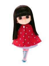Photo2: 7-8 inch Doll Wig, Natural long Wig, Soft-Black / ナチュラルロングウィッグ ソフトブラック (2)