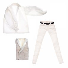 Photo1: Gilet Set for One-sixth scale Boys & Male Album, White / メンズジレセット ホワイト (1)