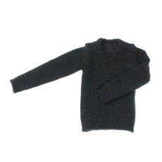 Photo1: Dress: Men's V-Neck Knit, Charcoal / メンズVネックニット チャコール (1)