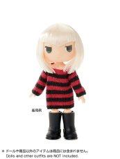 Photo2: Dress11: mini Closet, Long Knit, Stripe / ミニクローゼット ロングボーダーニット (2)