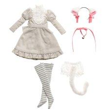 Photo1: Dress: Gray Cat Dress Set (re-stocked) / グレーキャットワンピースセット (1)
