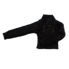 Photo1: Dress: High Neck Knit, Black, for ruruko/ ハイネックニット ブラック (1)