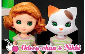 Odeco/Odette & Nikki (Girl & Cat)