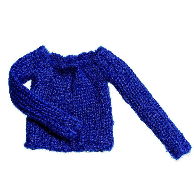 Photo1: Short length Bulky Knit, Blue / ショート丈バルキーニット ブルー (1)