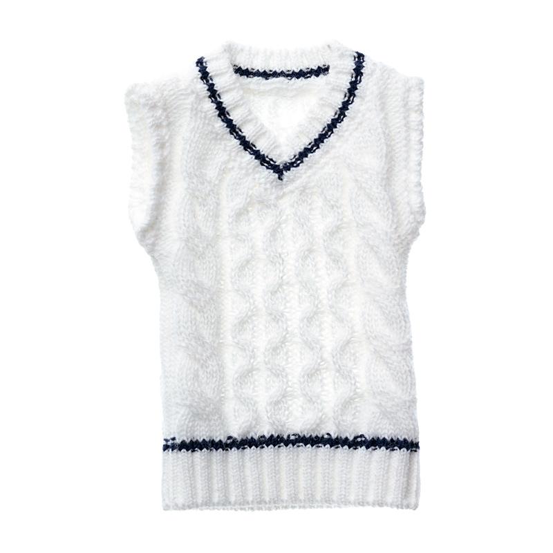 Photo1: Dress: Tilden Vest, L size, White for momoko / チルデンベストL ホワイト (1)