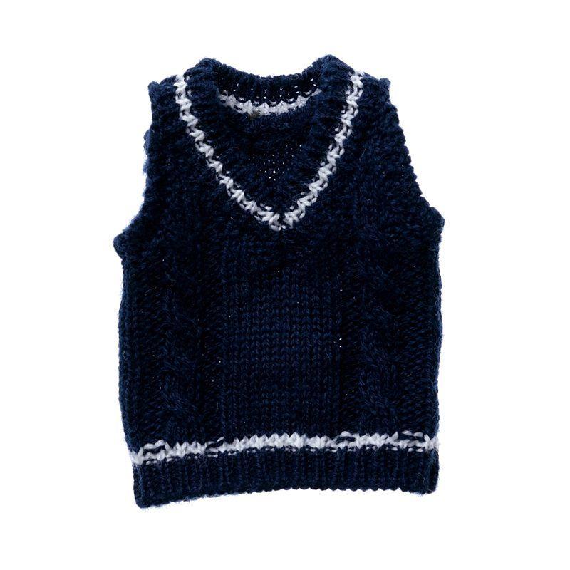 Photo1: Dress: Tilden Vest, S size, Navy, for ruruko/ チルデンベストS ネイビー (1)