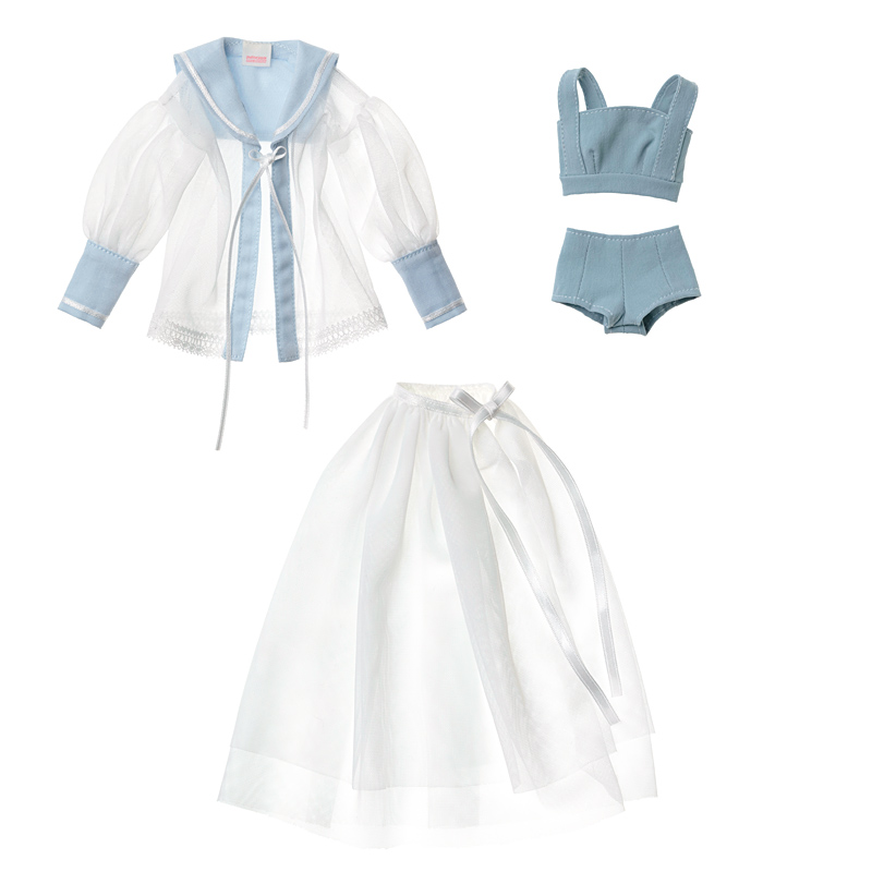 Photo1: Dress: Tulle Sailor Set for momoko / momokoチュールセーラーセット (1)