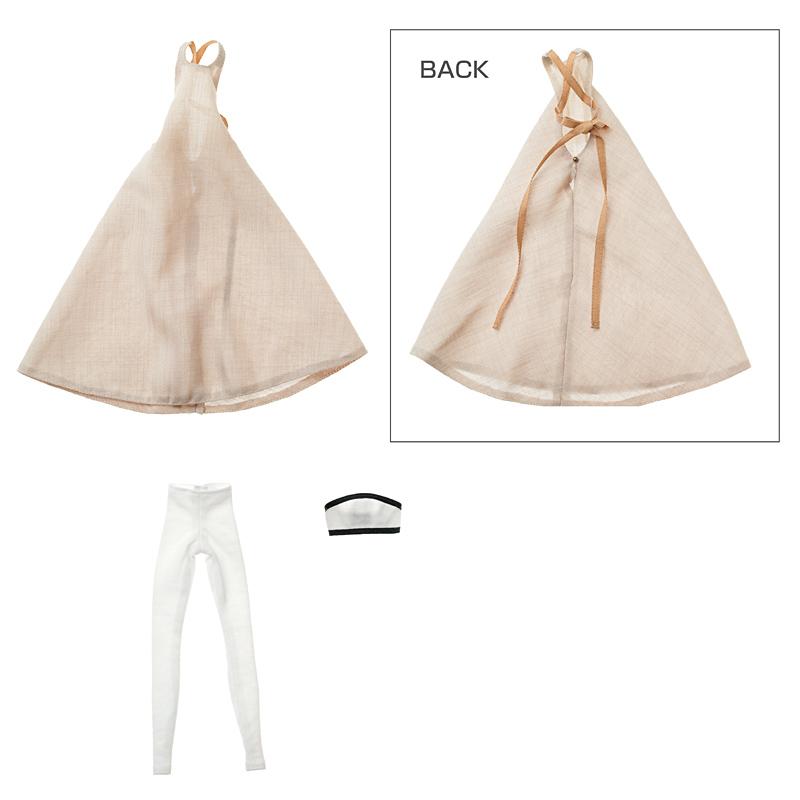 Photo1: Dress: momoko Simple Dress Set, Beige / momokoシンプルワンピースセット ベージュ (1)