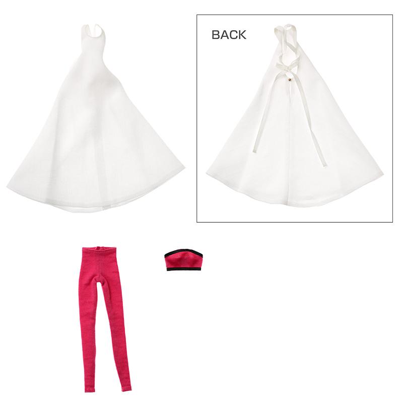 Photo1: Dress: momoko Simple Dress Set, White / momokoシンプルワンピースセット ホワイト (1)