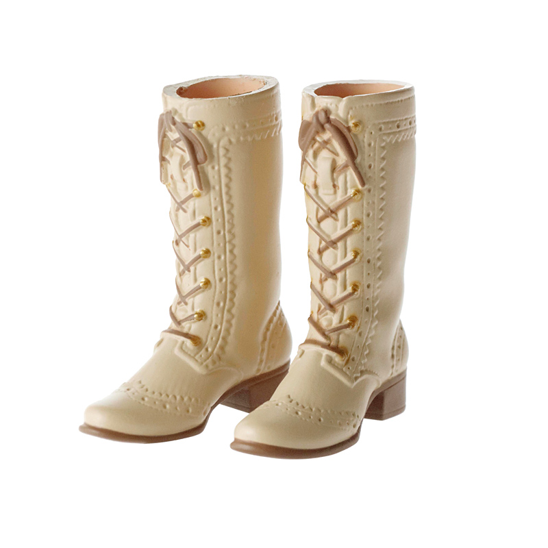 Photo1: Mid-Calf Lace-Up Boots, Sand-Gray / レースアップミドルブーツ サンドグレー (1)