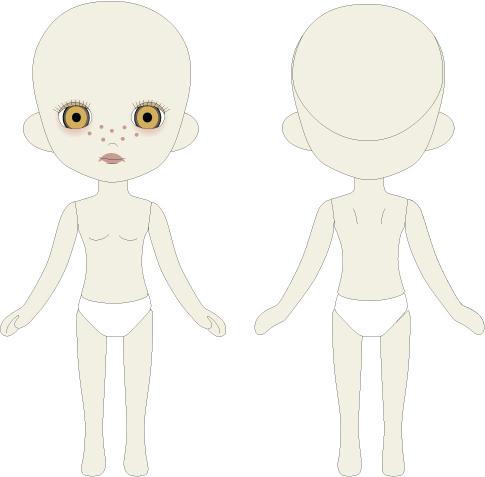 Photo1: Odeco-chan, Nude Body 020 / はだかんぼうのおでこちゃん 020 (1)
