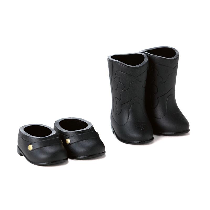 Photo1: DecoNiki Shoes, Loafers & Western Boots Set A, Black/Black / ローファー・ウエスタンブーツセット A (ブラック/ブラック) (1)