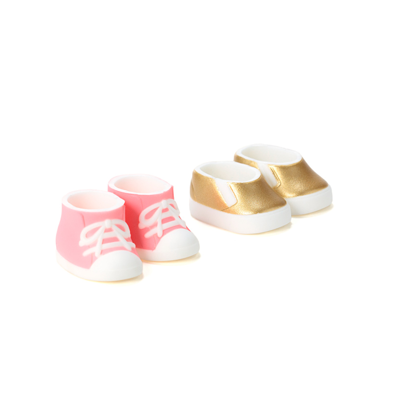 Photo1: DecoNiki Shoes, Sneakers & Slip-ons Set A, Pink/Gold / スニーカー・スリッポンセット A (ピンク/ゴールド) (1)
