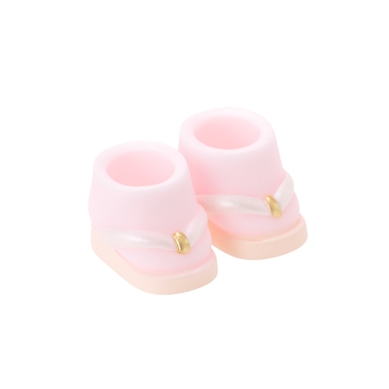 Photo1: DecoNiki Shoes, ZOURI, Pastel Pink / でこニキぞうり パステルピンク (1)