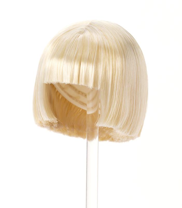 Photo1: 7-8 inch Doll Wig, Straight Bob Wig, Blonde × Platinum White/ストレートボブウィッグ ブロンドxプラチナホワイト (1)