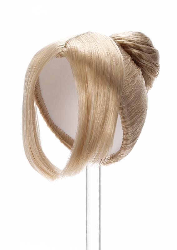 Photo1: 7-8 inch Doll Wig, Signon Wig, Pale-Ash-Blonde / シニヨンウィッグ ペールアッシュブロンド (1)