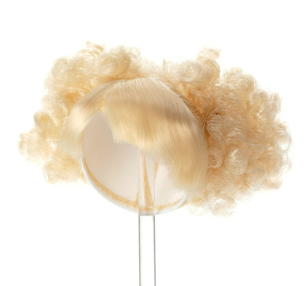 Photo1: 7-8 inch Doll Wig, Updo Two Volume Buns, Honey Blonde / ボリュームダブルアップウィッグ ペールハニーブロンド (1)