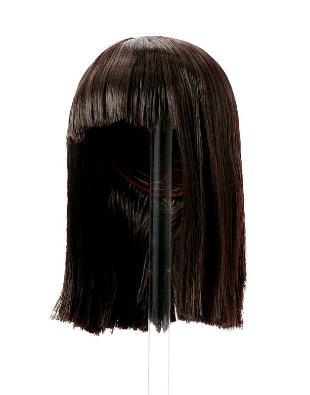 Photo1: 7-8 inch Doll Wig, Natural long Wig, Soft-Black / ナチュラルロングウィッグ ソフトブラック (1)