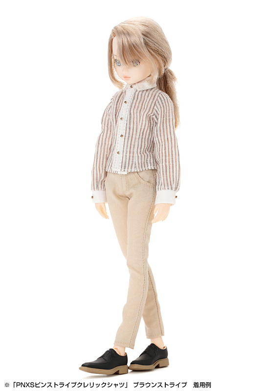Photo1: Azone, PNXS Pin Stripe Cleric Shirt / PNXSピンストライプクレリックシャツ (1)
