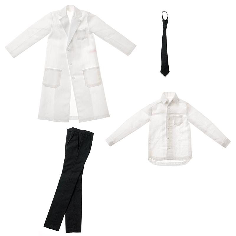 Photo1: Dress: Men's Lab Coat Set,  Black / メンズ白衣セット ブラック (1)