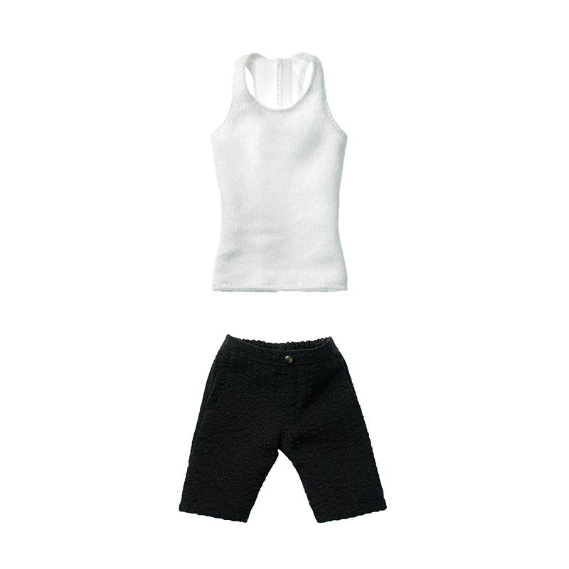 Photo1: Dress: Men's Half Pants Set, Brack / メンズサーフパンツセット ブラック (1)