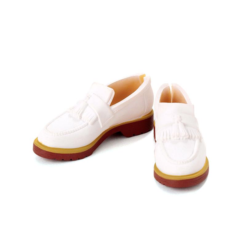 Photo1: Men's Tassel Loafers, Matte-White/ メンズタッセルローファー マットホワイト (1)