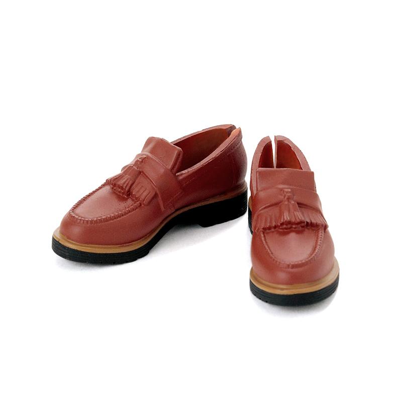 Photo1: Men's Tassel Loafers, Red-Brown/ メンズタッセルローファー レッドブラウン (1)