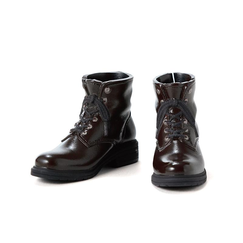 Photo1: Men's Work Boots, Dark-Brown (Silver Eyelets) / メンズワークブーツ ダークブラウン×金具シルバー (1)