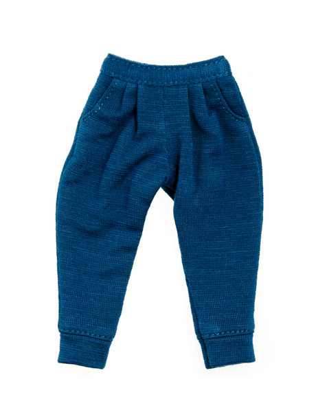 Photo1: Sekiguchi, MOMOKO by momoko, Sarrouel Pants, Knitted, Three-Quarter Length, Marine Blue/サルエルパンツ マリンブルー (1)