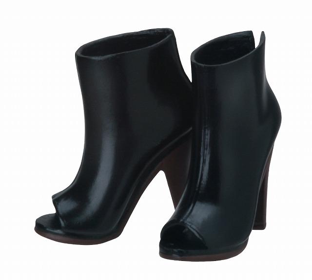 Photo1: Sekiguchi shoes, Open-Toe Booties,, Black / オープントゥブーティー ブラック (1)