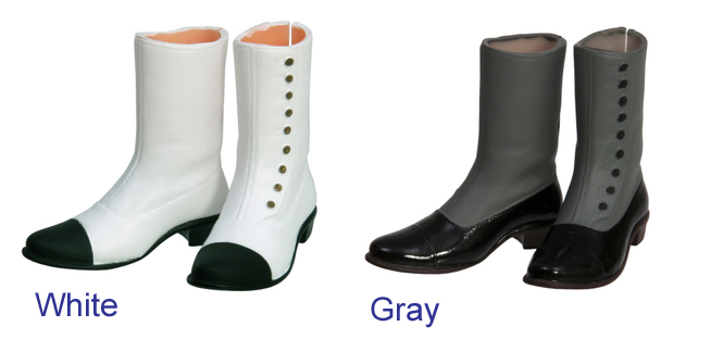 Photo1: Sekiguchi shoes, button short boots / ボタンアップブーツ (1)