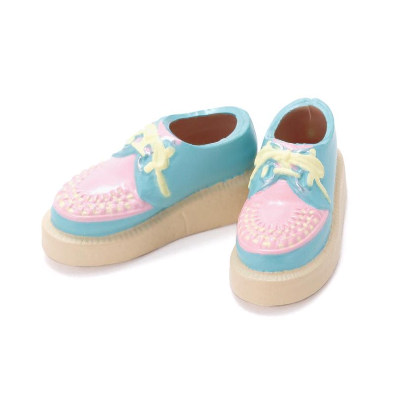 Photo1: Sekiguchi shoes, Brothel Creepers, Blue x Pink / ラバーソウル ブルー×ピンク (1)