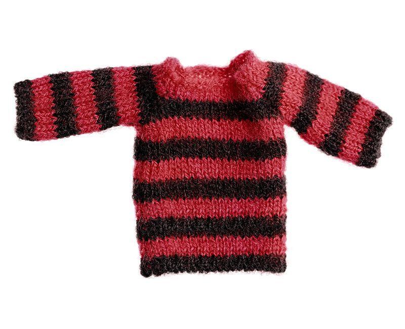 Photo1: Dress11: mini Closet, Long Knit, Stripe / ミニクローゼット ロングボーダーニット (1)