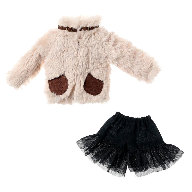 Photo1: Dress: Faux Fur Jacket Set for ruruko / rurukoフェイクファージャケットセット (1)