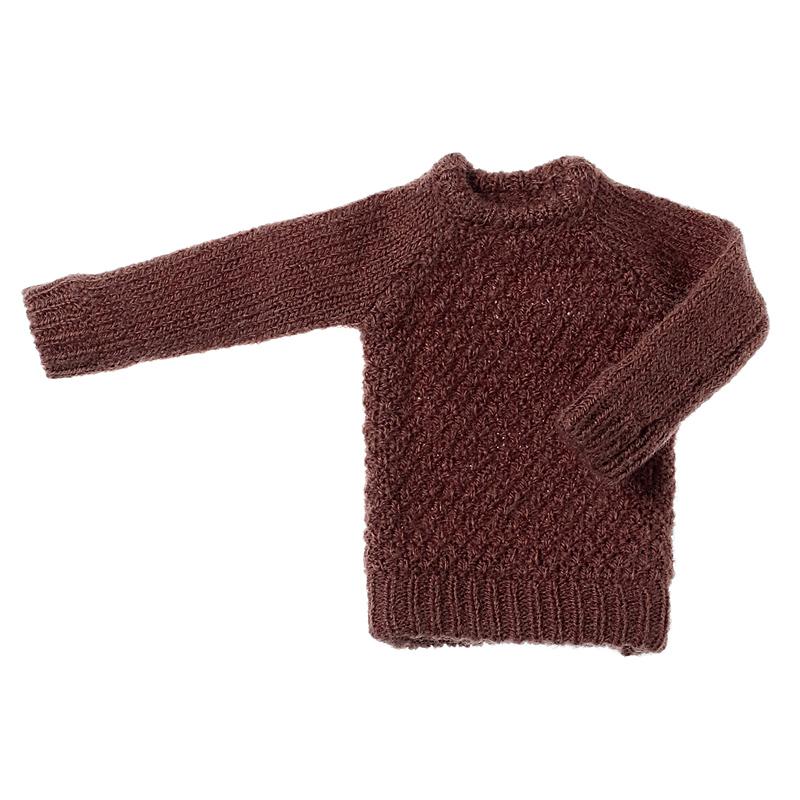 Photo1: Dress: Moss Stitch Knit Pullover for ruruko, Cocoa. /鹿の子プルオーバーニット ココア (1)