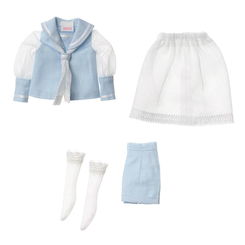 Photo1: Dress: Tulle Sailor Set for ruruko / rurukoチュールセーラーセット (1)