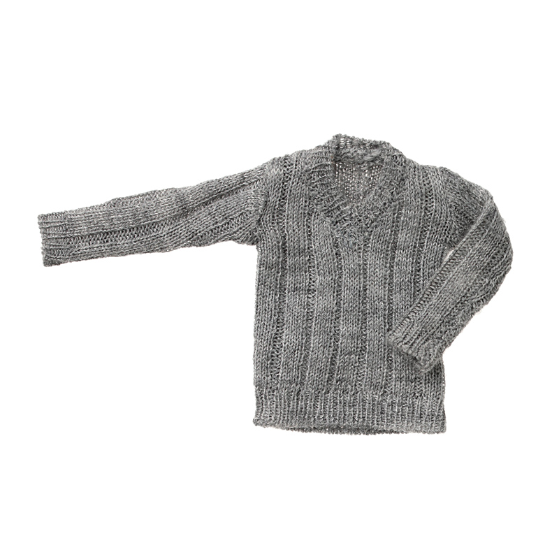 Photo1: V-neck Knit, Heather Gray / Vネックニット 杢グレー (1)